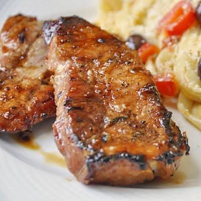Honey Glazed Grilled Pork Chops