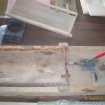 Frame Builder Jig, frame with frame waxed in back-ground