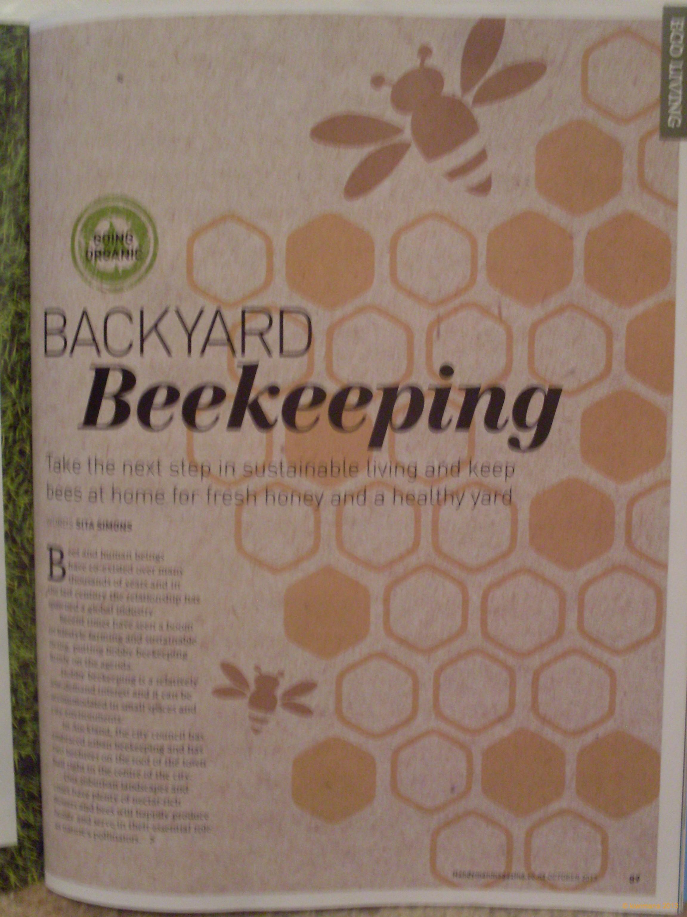 how handy and backyard beekeeping