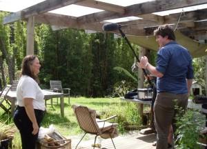 Margaret being interviewed