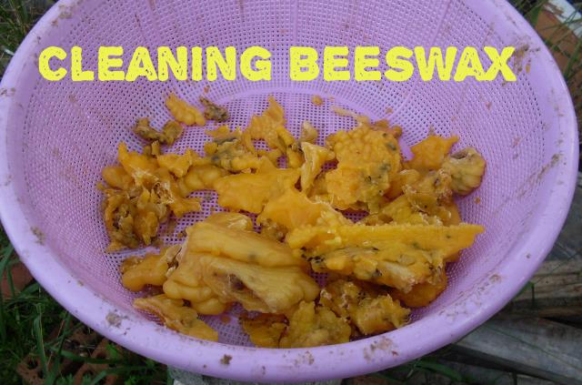 how to clean beeswax