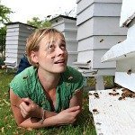 Camilla Goddard began beekeeping as a hobby. Photograph: Julian Love