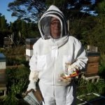 My very new ventilated mesh full bee-Suit and its a breeze ...when working in the Apiary
